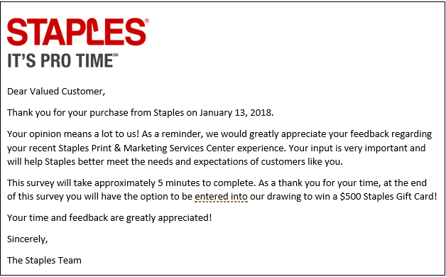 Guest Post Congratulations Staples You Checked All Boxes Of ACSD - Can you print from email at staples
